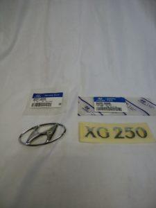 ヒュンダイ XG トランクエンブレム  XG250レター